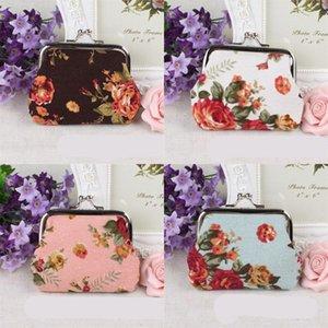 Wallet Flowers Colorful 1 Purse Cloth Coin White Women Big 6qs Container Rose Fashion Black Handbag Ladies C2 Gtwow