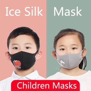 Designer PM2.5 protective Masks Boys Girls Cartoon Mouth Face Masks Kids Anti-Dust Breathable Earloop Washable Reusable Cotton Breathable