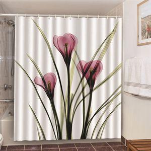 2020 bathroom shower curtain starfish conch romantic Paris cactus print curtain shower polyester waterproof 150x180cm curtain