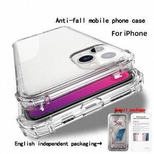 Para iphone 11 pro Max Caso 4 canto airbag Militar Anti-queda Casos de telefone transparente para iphone XR XS 7 8 Plus tampa traseira ZPAO #