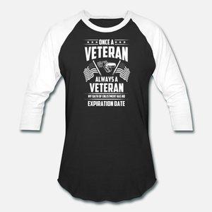 Veteran Veteran Una volta che un veterano sempre un Vete uomini della maglietta di cotone carattere rotondo della camicia del collo Kawaii Fit costruzione Primavera Autunno vintage