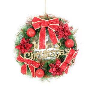 COOMAMUU Weihnachtskränze Dekorationen Bowknot und künstliche Blumen