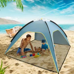 Widesea Strand-Zelt 3-4Person Sunshelter Mit SPF UV 50+ Schutz Markise Zelt für Outdoor-Reisen Camping Fischen Picnics Sunshad
