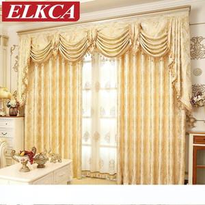 New Design Europäische Golden Royal Luxus Vorhänge für Schlafzimmer Fenster Vorhänge für Wohnzimmer Elegante Vorhänge Europäische Vorhang