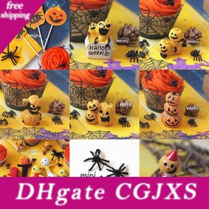 Halloween Spiders citrouille Cobweb Cupcake Wrappers Cartoon 11 Designs Paper Doll silicone Festival de décoration de gâteau Accessoires 08