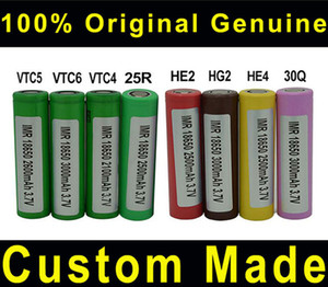 50pcs Original 18650 Rechargeable vapes battery Batteries e-cigarette VTC4 VTC5 2600mAh VTC6 4000mAh INR 25R 2500mah 30Q HG2 3500mAh He2 HE4