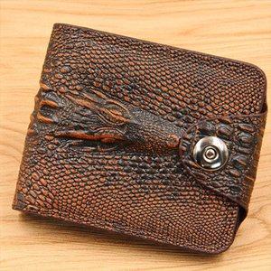 Brand New Pu Leather Mens Wallets Crocodile Pattern Business Men Wallet Coin Purse Money Bag Credit Card Holder