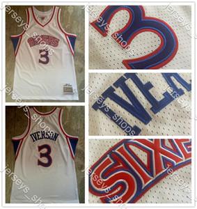 Vintage ▾Filadelfia76ersAllenIverson3 Mitchell Ness 1996-97 HardwoodsClassici autentico maglie da basket