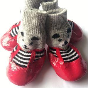 sapatos de filhote de cachorro de inicialização Meias Tamanho todos os sapatos de borracha Cotton Dog Pet Waterproof antiderrapante cão chuva botas de neve Meias Calçado de filhote de cachorro