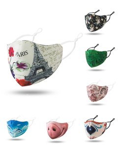 Free Shipping designer Pattern Popular Colour Mouth Cover Male Female Creative Fashion Masks Factory Direct Selling