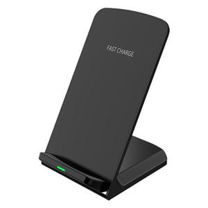 NOVO Vertical titular do telefone móvel sem fio do carregador do telefone móvel 5W / 10W indução rápida sem fio carregador duplo bobina DHL shiping livre