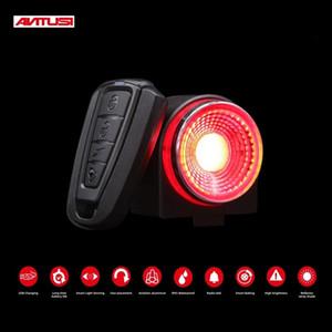 ANTUSI A8 automatique de freinage feux arrière à distance de vélos Feu arrière Wirel sonnette d'alarme vélo de route anti-vol de verrouillage Q1 7 couleurs VTT lampe