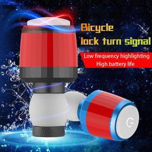 Waterproof Bicycle Light Bike Bicycle Handlebar Grips Caps Led Handle Bar End Plugs Light Lamp 1 Pair High Quality A713