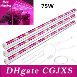 45w 60w 75w T8 Pflanze 448pcs LED Light Bar Streifen für den Innen- Pflanzen Grow Light Tube 3 Satz 3 ft Full Spectrum wachsen