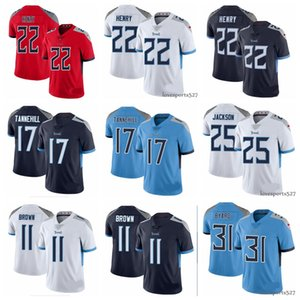 Tennessee 2020 novos dos homensTitansjérsei 22 Derrick Henry 17 Ryan Tannehill 31 camisas de futebol Kevin Byard 11 AJ Brown americanos 0901