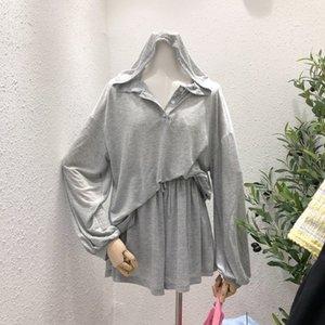 Dongdaemun 2020 temperamento sciolto stile Estate coreano dimagrante vita alta abbigliamento banda breve cappotto con cappuccio in gomma + elastico protezione solare Clo