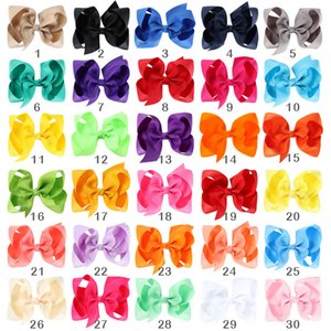 """CN 15 20 30 Pcs lot 4"""" Solid With For Kids Girls Boutique Ribbon Clips Classic Bows Hair Accessories"""