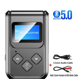 5,0 Bluetooth адаптер Led-Bildschirm Wireless Audio Blue Tooth Sender adaptador Empfänger für PC TV Авто 3,5мм AUX Musik Sender