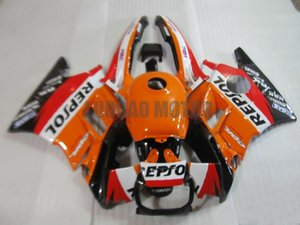 Carénages kit + cadeaux pour HONDA CBR600 F2 1991 1992 1993 1994 CBR600 91 92 93 94 CBR600 F2 + couvercle pare-brise #Orange #REPSOL corps 91-94 # SH327