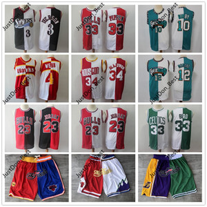 Mitchell Ness 23 Santiago 1 McGrady 15 Carter 33 Pippen 23 Michael JD 33 Bird 4 Webb Baloncesto Jersey Justo