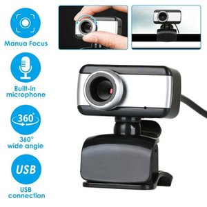 480P 360 Degree Rotatable USB Webcam Camera With Microphone Consumer Camcorders For PC Laptop Computer Desktop