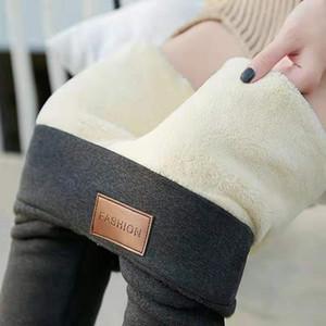 Svokor Leggings thermique Flanelle Streetwear Pantalons taille haute pour les femmes d'hiver Pantalons simple