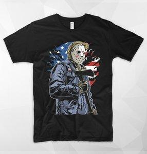 Американский убийца США тенниска Donald Trump Freddy VS Jason Ужас маска пушки Закон