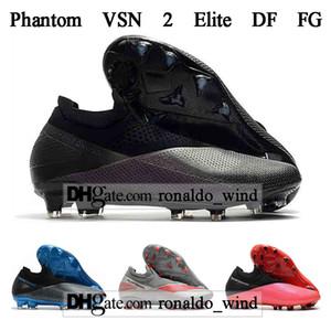 Free Shipping Mens High Ankle Football Boots Phantom VSN 2 Elite DF FG Soccer Shoes Phantom Vision II FG Soccer Cleats