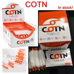 COTN arancione fili di cotone merletto di doppio-intestata COTN vape cotone RDA guida dell'olio filo di riscaldamento cotone diametro 25/30 / 35mm cerchio sono disponibili