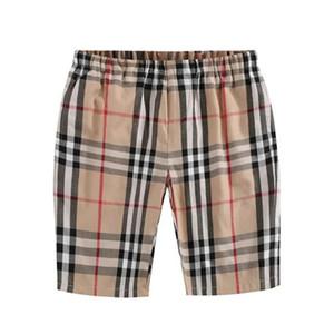 мальчики шорт 2020 лета INS новоприбывших модно небольшой плед печати высокого качества хлопка Половина эластичного пояс брюки