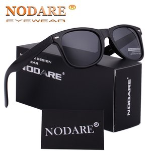 NODARE 2020 HD polarizada Rayed Rivet Sunglasses Hot Unisex Sun glases Masculino Feminino Lunette soleil femme 2140