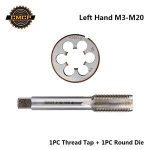 CMCP 2pcs HSS M3 M6 M8 M10 M12 M14 M16 M18 M20 rosca métrica roscado de la máquina Conjunto de la mano izquierda Tornillo Tap Drill Bit Die Ronda
