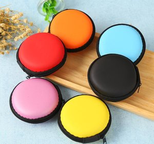 Mix colors Earphone Holder Carrying Hard Bag Box Case For Earphone Headphone Accessories Earbuds memory Card USB Cable