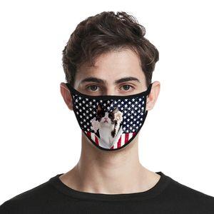 Máscara o Dia da Independência Newclipper Usa Para Máscaras Lady Cubrebocas Cor Rosa lavável Poliéster Usa Independência authenti DHL