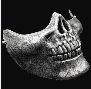 Máscaras Máscara de Navidad de la media cara Guerreros Esqueleto de Halloween cráneo protector de terror de la mascarada CS Juegos Máscaras