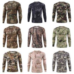 Camice casuali del manicotto del Mens traspirante superdotati Tops Designer spting autunno Mens maglietta lunga # 135
