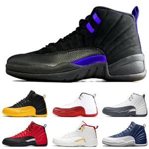nike air jordan 12 retro Hot vente Jumpman 12 12s noir Concord Hommes Retro Basketball Chaussures Retour Taxi Jeu Pierre Blue Wings Hommes Gris Sport Femmes Chaussures Baskets