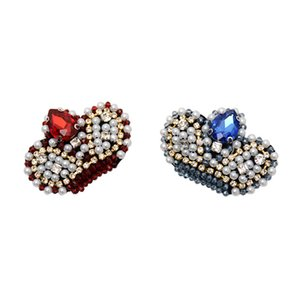 20200816 Manual nail bead heavy industry crown cloth sticking Brooch clothing accessories accessories shoes and caps bag patch