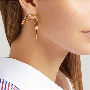 2020 новые металлические серьги, панк геометрические золотые серьги, мужская и женская партия украшения подарочные серьги
