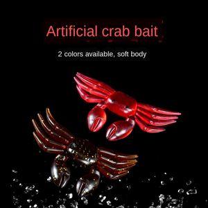 falso 7G oito centímetros macio Simulação false false bait caranguejo de duas cores simulação macio isca Luya