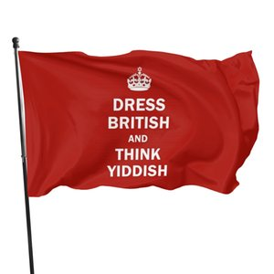 Dress British And Think Yiddish Flag Banner Flags