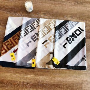 Seidenschal für Frauen-Qualitäts-Doppel F Brief Leopard druckte Pashmina Schals Datum Seidenschals Mode Kopftuch