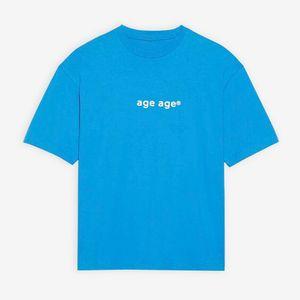 20FW lettera stampata Tee Lake blu traspirante estate maglietta casuale Highstreet maniche corte Uomo Donna all'aperto Moda Oversize HFLSTX535
