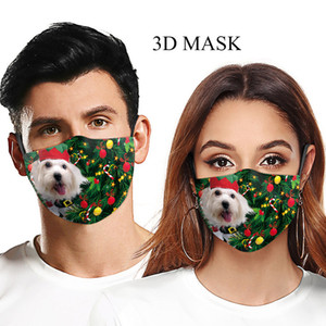 DHL free shipping new designer face mask Adults washable suitable mouth mask Animals cats dogs christmas Adjustable protective