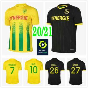 2020 T-shirt 2021 FC Nantes maglie calcio SIMON Louza Un TOURE BLAS COCO COULIBALY personalizzata 20 21 In casa Fuori casa per adulti Bambino Uomo di calcio