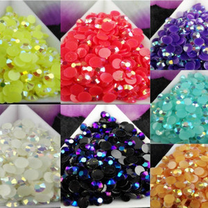 2500pcs / bag SS20 5mm 7 Renk Jelly AB Reçine Kristal Rhinestones Flatback Süper Glitter Nail Art Strass Düğün Dekorasyon Boncuk Sigara Ho UGZJ #