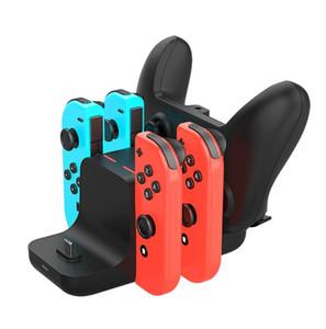 6 en 1 muelle de carga para la carga del interruptor Nintendo Consola de alegría-con muelle de la estación Controller Gamepad Cargador DC5V / 2A puesto de cambio de NS