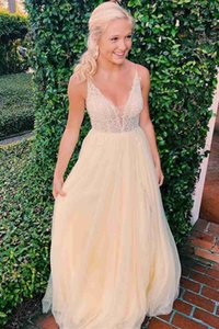 Charming Spaghetti Straps Prom Gown A-line Long Evening Dress robe de soiree for Special Occations Custom Made