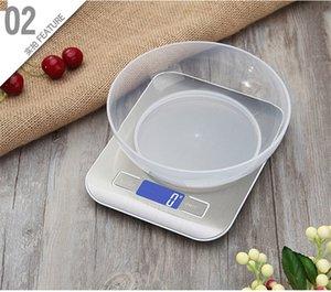 5 kg 1g Precise Início escala eletrônica LCD Bench eletrônico Balança Cozinha Cozinhar Ferramentas de medição Digital Scale DHE1150