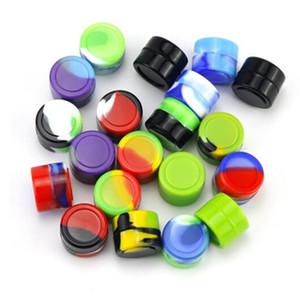 Mini Silicon Container 2ml 3ml 5ml 7ml 10ml Cera Vaso colorato concentrato di stoccaggio caso Dabber contenitore in silicone per Wax Herb Oil